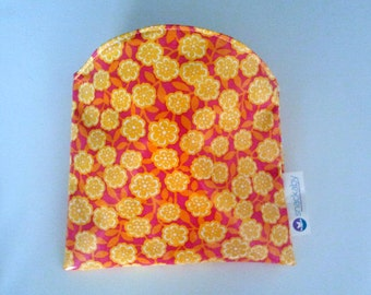 Yellow Flowers Snackaby dishwasher-safe reusable sandwich bag