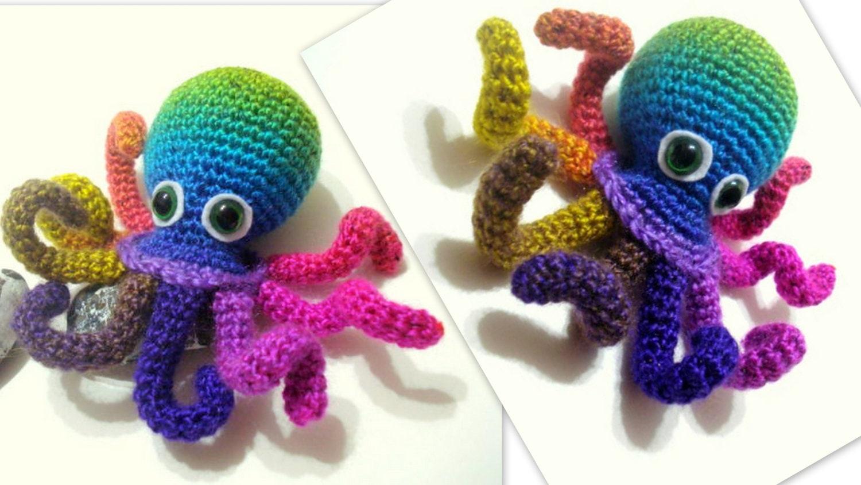 Amigurumi Octopus Tutorial : Crochet Tutorial Octopus Amigurumi Crocheted Octopus