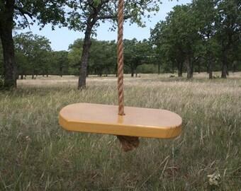 Single Rope Yellow Tree Swing