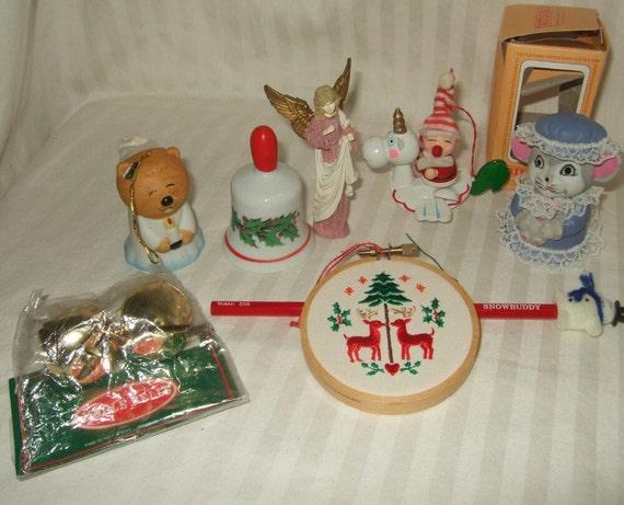 Vintage Christmas Ornaments Lot Of 1980 39 S Christmas