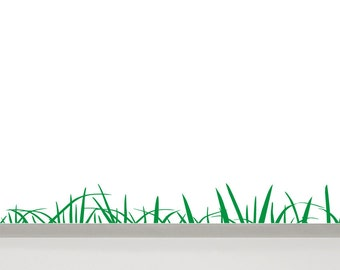 Grass Wall Decal, 78'' / 200 cm length - Green Grass Wall Border - Nursery Grass Decal - Vinyl Wall Decal