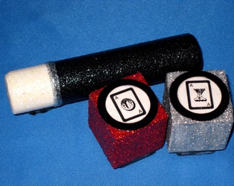 Magician Tic Tac Toe Game Magic Wand Card Trick Magician Children's Toy Tic Tac Toe Stamp Set Magician Party Magician Birthday Party Game