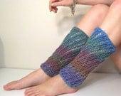 Leg Warmers Knit Pink Green Orange Blue Lace