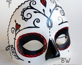 Heart Breaker Sugar Skull Day of the Dead Hand painted Mask by Lupe Flores