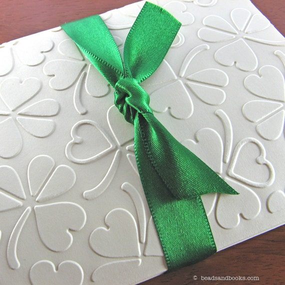 Irish Wedding (8 St. Patrick's Day Cards with Shamrocks & Hearts) - Discontinued