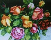 Roses Note Cards - Stationery