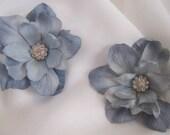 Something Blue, Powder Blue Crystal Flower Bridal Hair Pins, Set of 2, Bridal, Bridesmaids, Wedding, Photography Prop, LIMITED EDITION