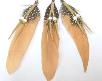 5-8cm Natural Feather Nature Tone Lot of 25pieces - 4733 - Wholesale Feathers Bulk Accessory