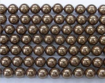 12mm South Sea Chocolate Shell Core Beads 15''L - 5084 Wholesale Shell