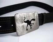 Velociraptor Belt Buckle - Stainless Steel - Handmade