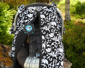 Carseat Canopy Bor or Girl Nursing cover as well