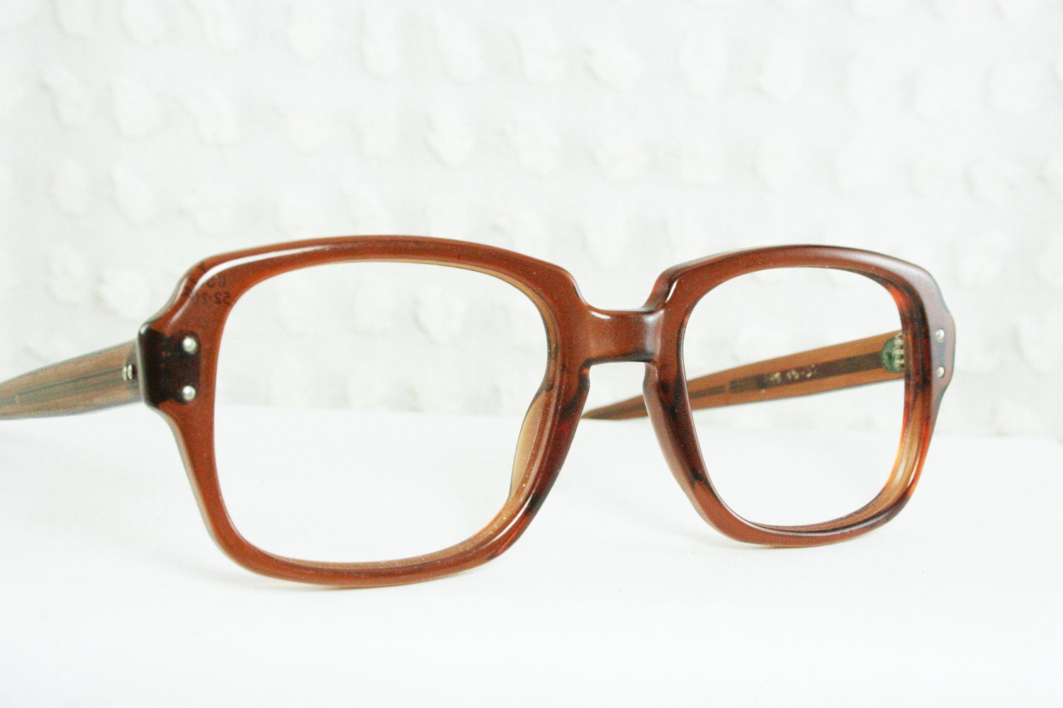 Military Issue 1990s Thick Horn Rim Eyeglasses by ...