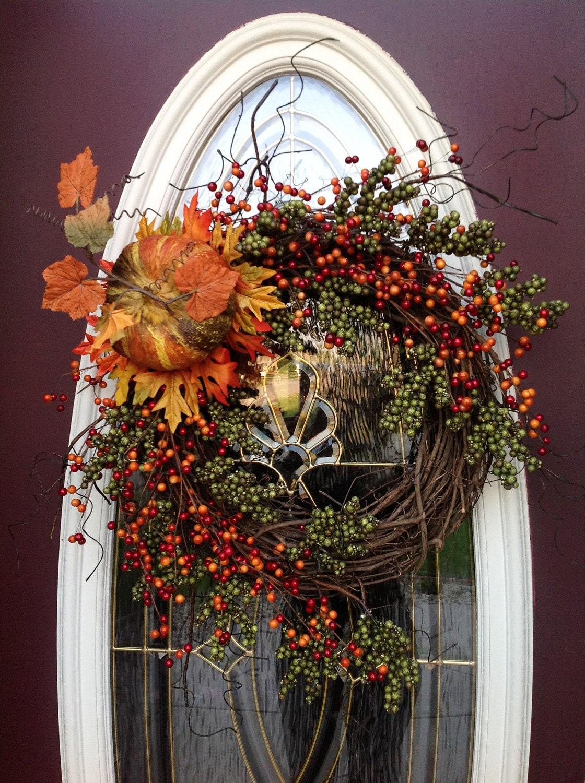 Fall Autumn Grapevine Door Wreath Decor Enchanted