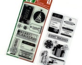 Clear Christmas Stamps from Inkadinkado - Tags & Wishes Double Set