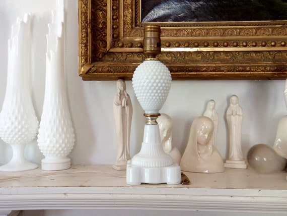 Milk Glass Lamp Antique Table Lamp White Glass