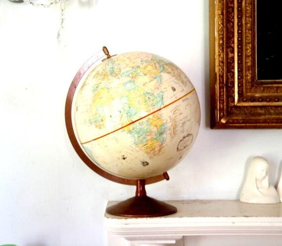Vintage World Globe Pale Cream