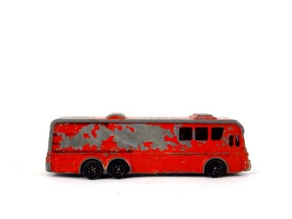 Vintage Greyhound Bus Toy Red Metal Car Toy