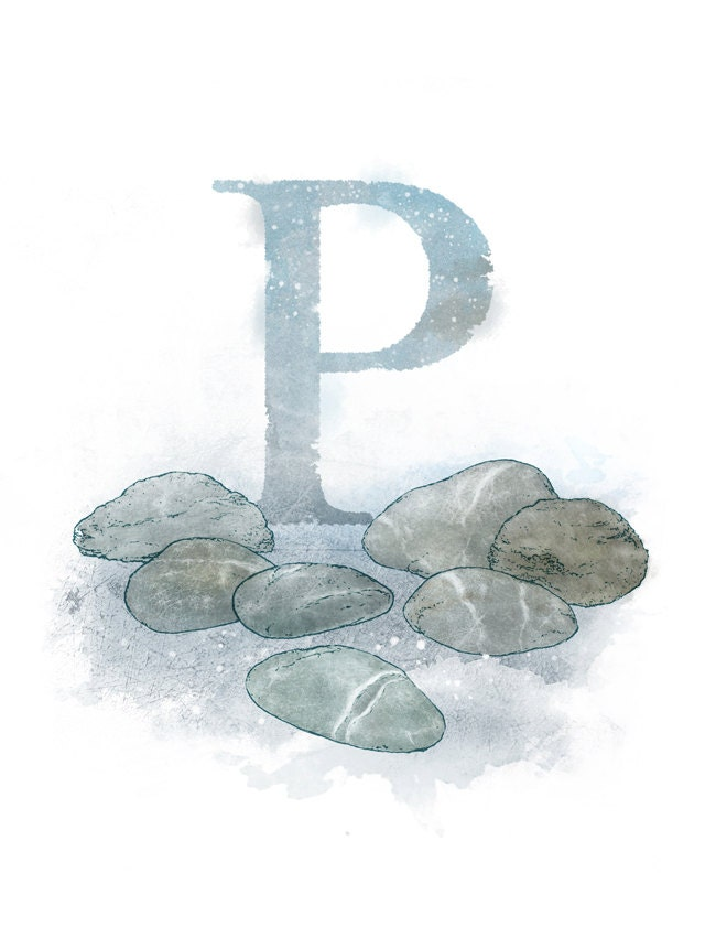 Popular items for letter p art on Etsy