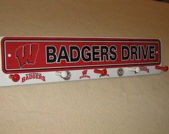 """Wisconsin Badger's coat rack """" hangup """" (convo me your favorite team)"""