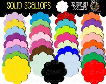 Digital Scallop Frame, Scallop Tag, Digital Clip Art, Label Clipart, Digital Clipart, Label Clip Art, Instant Download