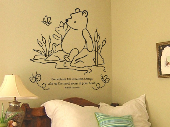 Classic winnie the pooh and piglet sometimes by for Classic winnie the pooh wall mural