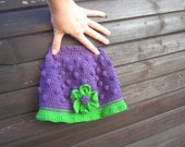 Funny Crochet Berry Hat Back to School Girlie Teens Woman Fall Autumn Winter Accessory Purple Green designed by dodofit on Etsy
