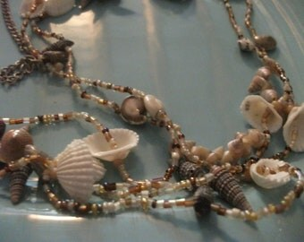 SALE-long SHELL NECKLACE, beach, holiday, summer