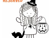 RESERVED for AMbyCRAFTEMAGEE ONLY - Trick or Treat bag - Reserved
