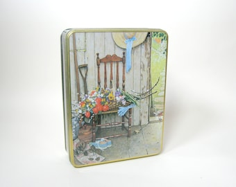 1960s Norman Rockwell Tin Box Reproduction Metal