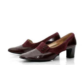Vintage Oxblood Pumps 1960s