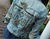 Thunderstruck Studded Denim Jacket