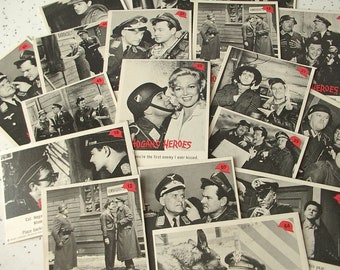 RARE vintage Hogan's Heroes trading cards set 1965, US air force military collectible, humor, Retro Christmas gift for him