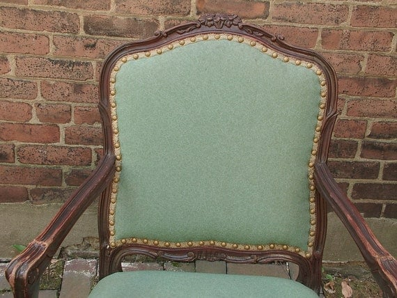 Antique Furniture French Provincial Arm Chair Shabby Chic Dining Room