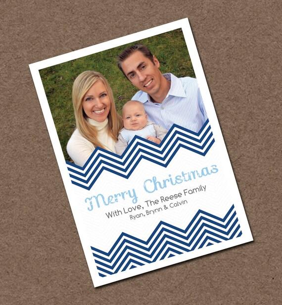 Costco Christmas Photo Cards Online: Items Similar To Printable Christmas Cards, Chevron