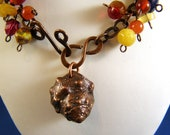 """Gemstone and Copper Necklace - """"Shell Game"""""""