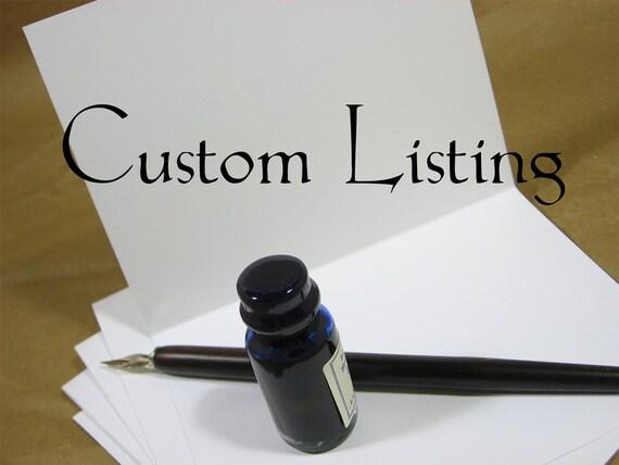 Custom Listing for JoannaF