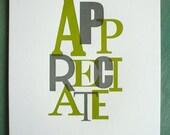 Appreciate Print Gray/Green