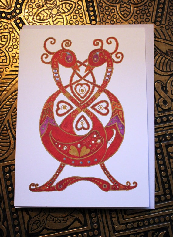 Celtic Love Birds card