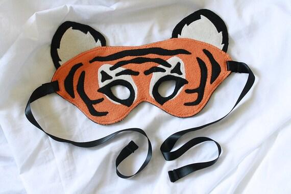 fleece tiger mask
