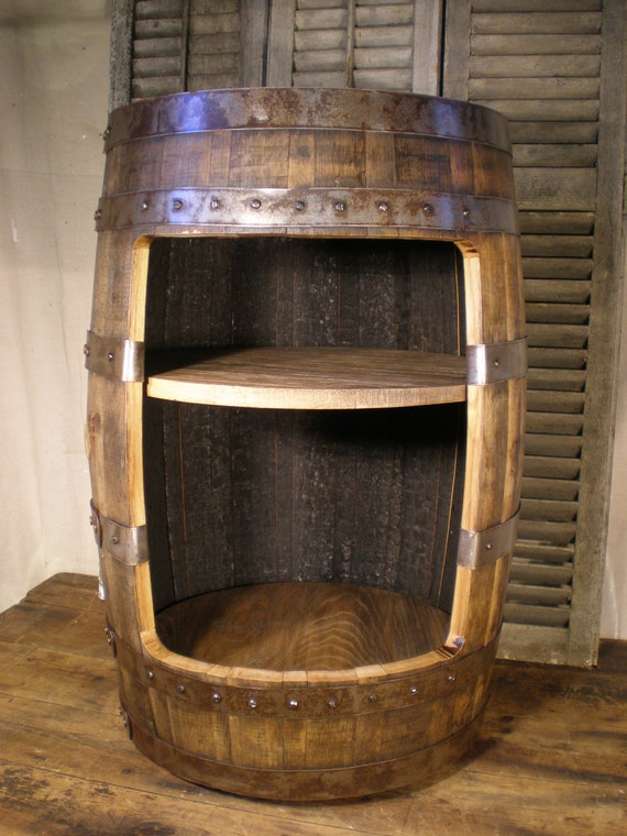 Whiskey Barrel Liquor Cabinet Bar Reserved For By