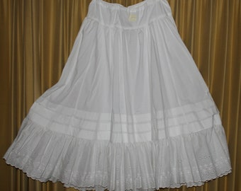 Victorian 100% Cotton Petticoat for Reenactment or Costume FOR ORDER ONLY