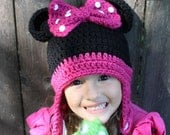 Crochet Minnie Mouse hat made to order