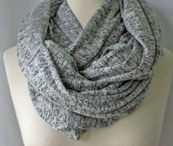 Infinity Scarf Heather Gray, Oversized Scarf, Jumbo