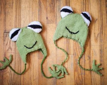 Hyla Frog Hat - Knitting Pattern