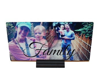 PERSONALIZED PHOTO GIFTS-High Resolution Personalized Metal 11x5 Photo Displays -Custom Photo Displays