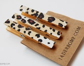 Large Decorative Clothespins-Set of 3 - Leopard Print
