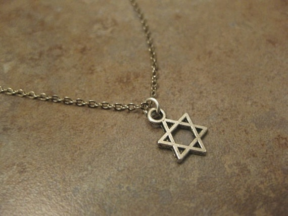 Star of david necklace magen david necklace jewish necklace for Star of david necklace mens jewelry