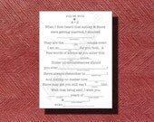 Printable Wedding Mad Lib A Fun Guest Book Alternative