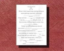 Printable Wedding Mad Lib A Fun Guest Book Alternative