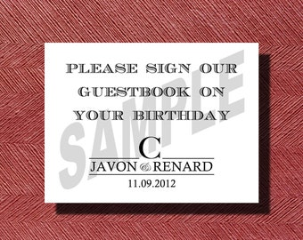 Wedding Calendar Guest Book Sign
